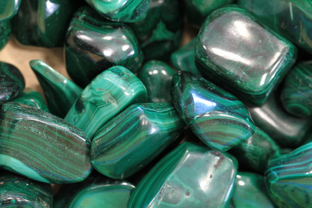 malachite: malachite collection as nice natural mineral background