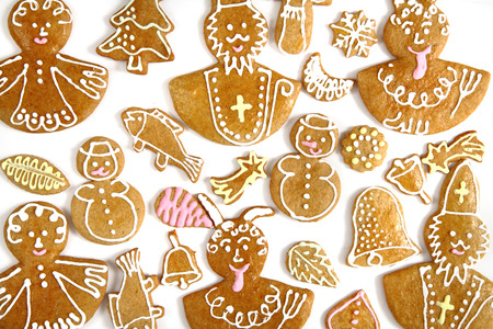 holiday food: czech christmas cookies as very nice holiday food background