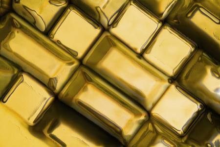 oz: golden bricks texture as very nice natural background Stock Photo