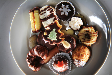nice food: christmas desserts as very nice food background Фото со стока