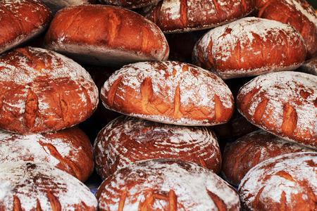 artisan bakery: fresh czech bread as natural food background