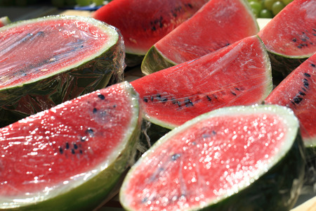 red in water: red water melon as natural food background