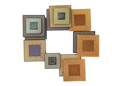 microprocessors: CPU microprocessors isolated on the white background