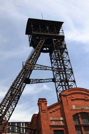 coal mine: mine tower from ostrava and blue sky