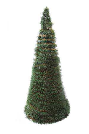 plastic christmas tree: plastic christmas tree isolated on the white background