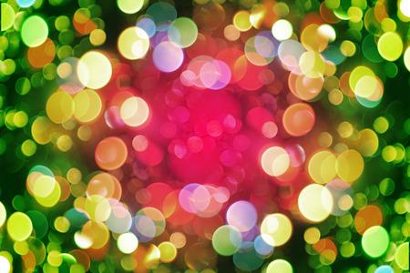 素敵な色のクリスマス ライトからクリスマスの背景