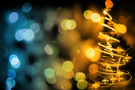 christmas tree from the color xmas lights as nice holiday background stock photo 44730425