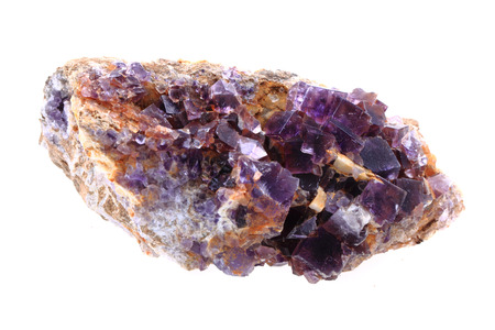 fluorite: fluorite mineral isolated on the white background