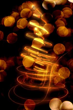 xmas tree: xmas tree (lights) on the black background