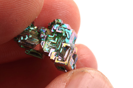 bismuth: bismuth mineral isolated on the white background