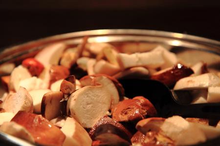 nice food: preparing mushrooms food as very nice food background