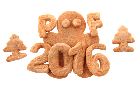 pf: gingerbread PF 2016 isolated on the white background