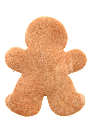 ginger bread man: ginger bread man isolated on the white background