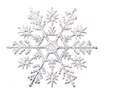 nice snowflake isolated on the white background