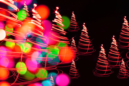 holiday background: christmas forest as very nice holiday background Stock Photo