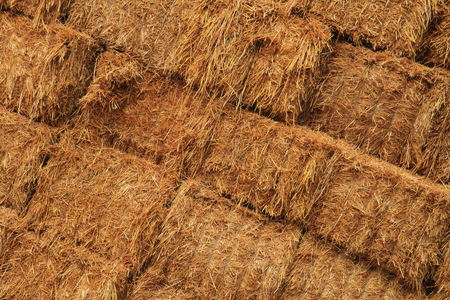 Natural straw texture from the big farm stock photo picture and corn straw cubes as nice agricultural background photo sciox Choice Image