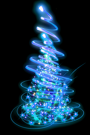 christmas parties: xmas tree (lights) background Stock Photo