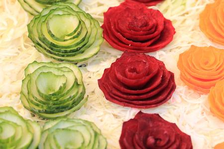 salad decoration: vegetable decoration background (easy gourmet raw salad)