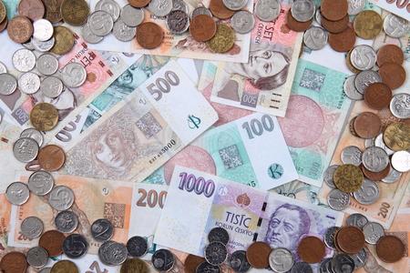 koruna: czech koruna money texture as nice background Stock Photo