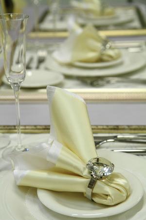 nice background: nice white wedding table as nice background