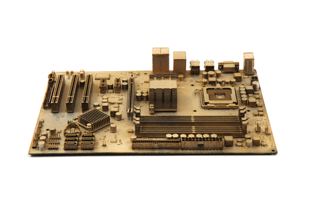computer motherboard isolated on the white background