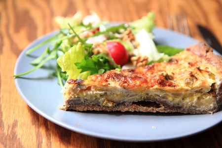nice food: quiche (food from france) as very nice food background