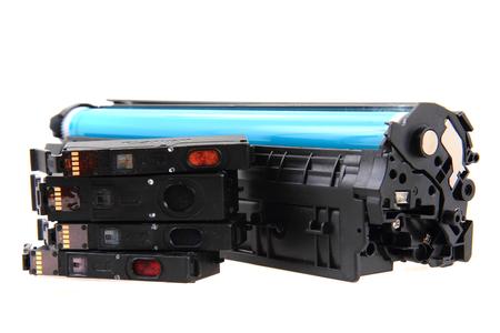 laser toner cartridge isolated on the white background 免版税图像
