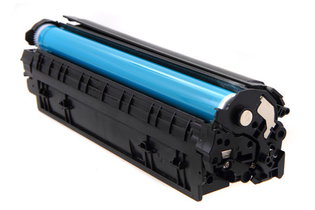 laser toner cartridge isolated on the white background