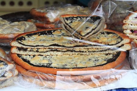 nice food: чешский отвеса торт, как приятный фон еды Фото со стока