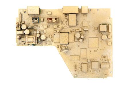 logic: golden logic circuit isolated on the white background