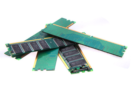 dimm: DDR computer memory isolated on the white background
