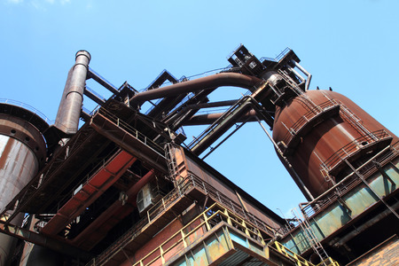 The Lower Vitkovice area (Dolni oblast Vitkovice), Ostrava, Czech Republic - ironworks, National Culture Heritage Stock Photo