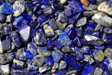 lapis: lapis lazuli mineral collection as natural background Stock Photo