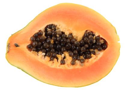 papaw: papaw fruit isolated on the white background
