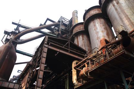 ironworks: The Lower Vitkovice area (Dolni oblast Vitkovice), Ostrava, Czech Republic - ironworks, National Culture Heritage Stock Photo
