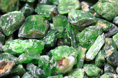green tourmaline: green verdelite mineral texture as nice natural background