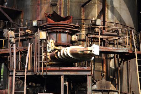 ironworks: detail of The Lower Vitkovice area (Dolni oblast Vitkovice), Ostrava, Czech Republic - ironworks, National Culture Heritage Stock Photo
