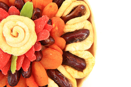 nice food: dried color fruits as very nice food background