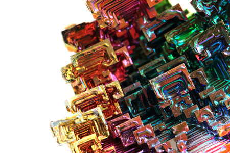bismuth: Bismuth - rainbow metal texture as color background