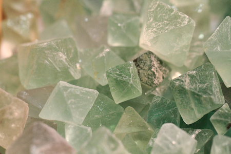 fluorite: fluorite green crystal texture as nice mineral background