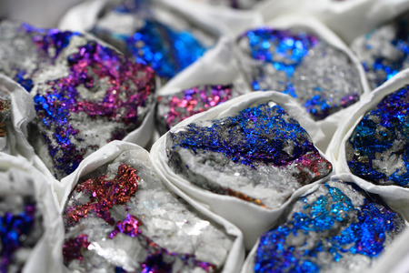 backround: metal chalcopyrite texture as nice natural backround Stock Photo