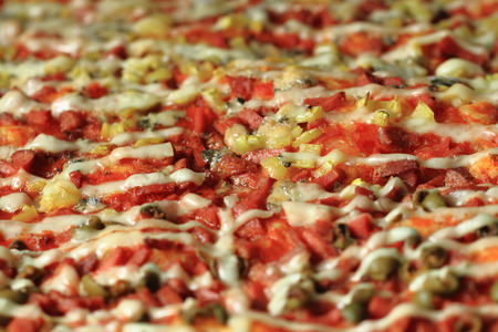 nice food: homemade pizza texture as nice food background