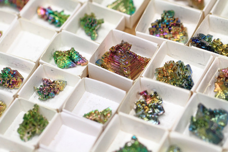 bismuth: bismuth mineral collection as very nice background