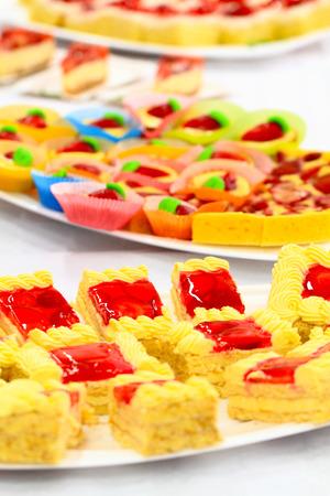 nice food: fresh strawberry dessert as very nice food background