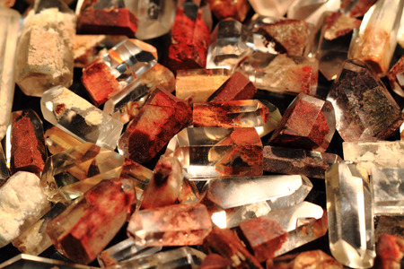 crystalline gold: ferrous crystals collection as nice natural background