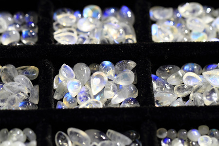 soft sell: small opalite mineral collection as nice background