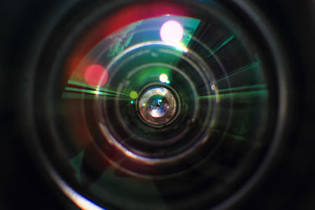 photography background: detail of glass lense as photography background