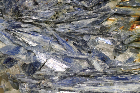 macrophotography: kyanite mineral texture as nice natural background