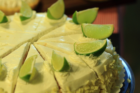 fresh lime cheesecake as very nice food background
