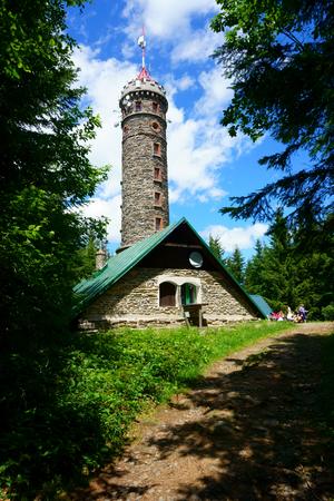 watchtower Zlaty Chlum in Jeseniky mountains in czech republic